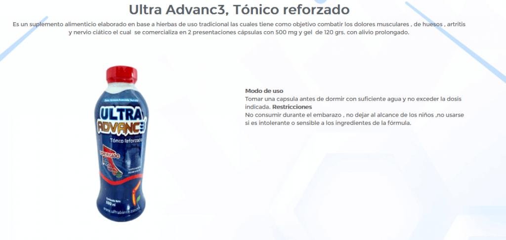 Ultra Advanc3 Tonico reforzado 1 Ultra Advance 3 ¿Qué es?, Cómpralo Cerca de Ti