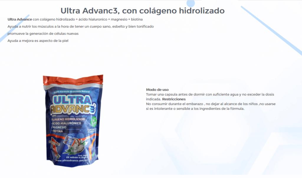 Ultra Advanc3 con colageno hidrolizado 1 Ultra Advance 3 ¿Qué es?, Cómpralo Cerca de Ti