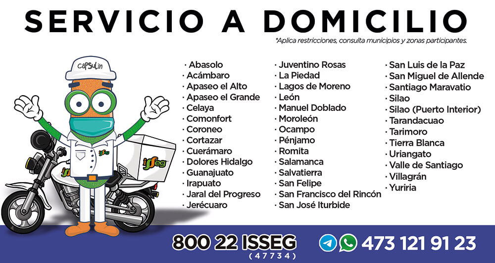 isseg servicio a domicilio Farmacias Isseg Servicio a Domicilio