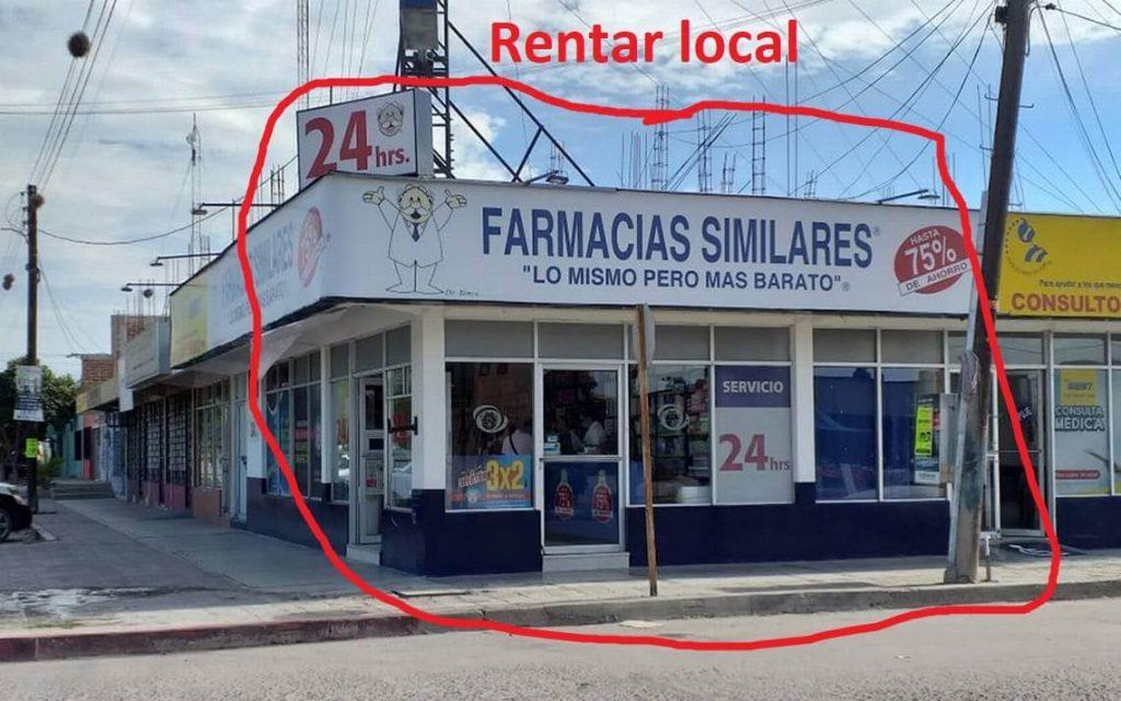 local rentar farmacias similares Quiero Rentar mi Terreno a Farmacias Similares