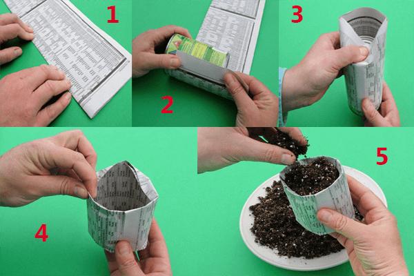 pasos hacer macetero reciclado de periodico Cómo hacer maceteros de periódico para hacer crecer semillas
