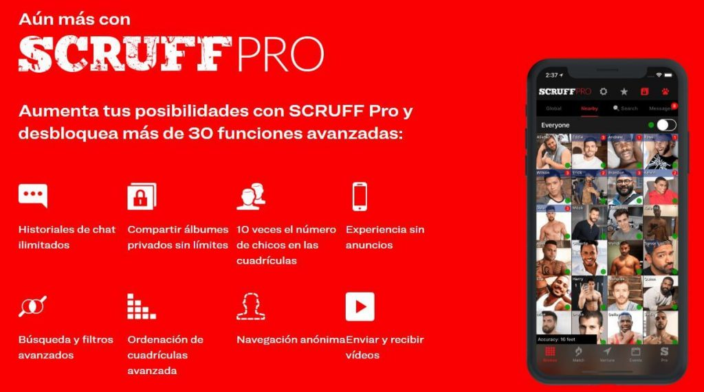 scruff pro Scruff, App Gay de Citas LGBTQ, Match, Viajes y Eventos