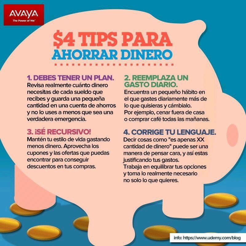 4 tips para ahorrar dinero